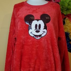 NWOT Disney x Jerry Leigh sequin Mickey Mouse L